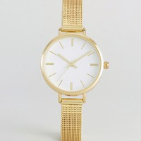 ASOS Gold Mesh Watch at asos.com