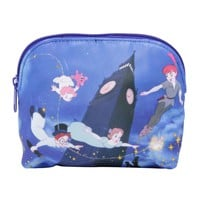 Licensed cool Loungefly Walt Disney Peter Pan Clock Flying Cosmetic Make-Up Bag Tote Purse NEW