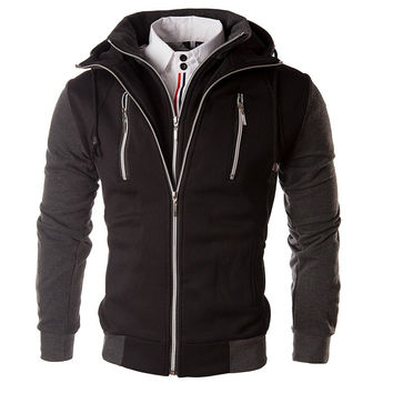 Winter Korean Slim Men Hoodies Hats Men's Fashion Jacket [6528753603]
