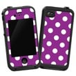 """White Polka Dot on Purple """"Protective Decal Skin"""" for LifeProof iPhone 4/4s Case"""