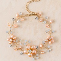 Curated Collection Pearl Flower Bracelet