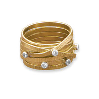 12/20 Gold Filled Multiband Ring with CZs