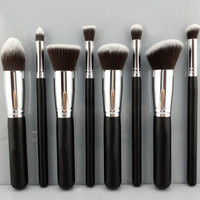 8 PC Premium Professional Synthetic Kabuki Makeup Brush Set
