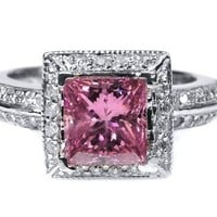 2.00 CT Pink Diamond Engagement Ring