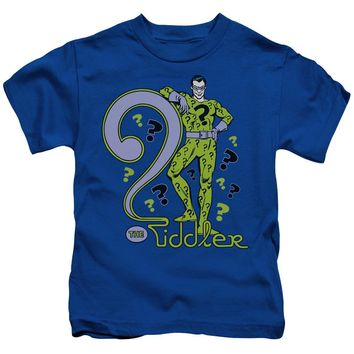Dc - The Riddler Short Sleeve Juvenile 18/1 Shirt Officially Licensed T-Shirt