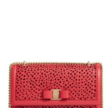 Salvatore Ferragamo Medium Ginny Leather Shoulder Bag | Nordstrom