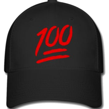 100 emoji embroidery,hat - Flexfit Baseball Cap