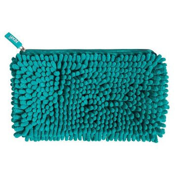 Yoobi Magnetic Fuzzy Pocket Pencil Case - Aqua