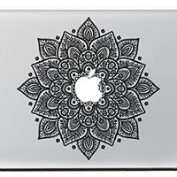 "SueH Design Leaves Flower Decal Removable Vinyl Decal for Apple Macbook Pro Air Retina Mac 13"" 15"""