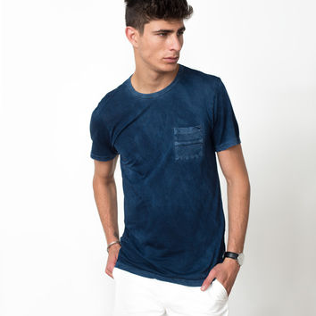 Pocket Tee in Navy