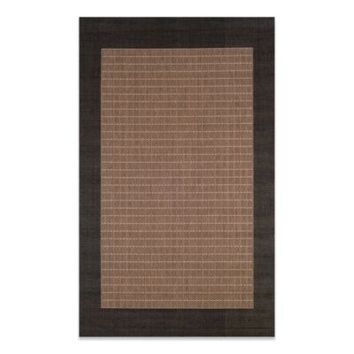 Couristan® Checkered Field Rug in Cocoa/Black