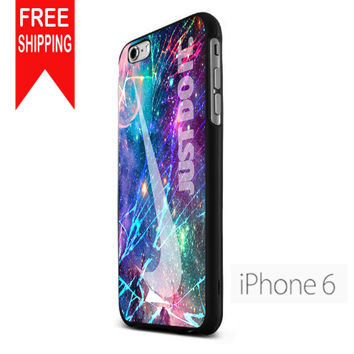 Nike Nebula Rainbow Just Do It Cracked Out iPhone 6 Case