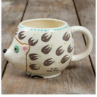 Natural Life Folk Mug - Hedgehog