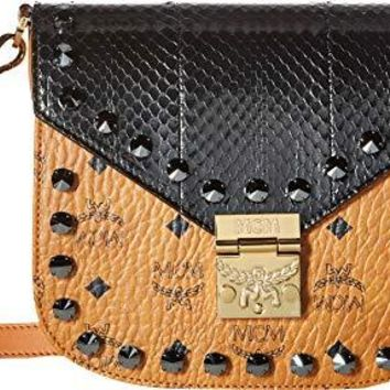 MCM Womens Patricia Exotic Crystal Shoulder Small