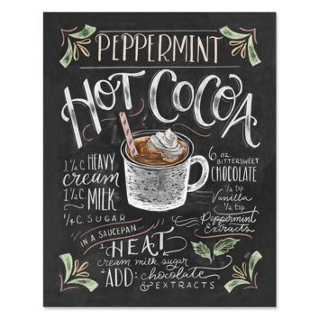 Peppermint Hot Cocoa - Print & Canvas