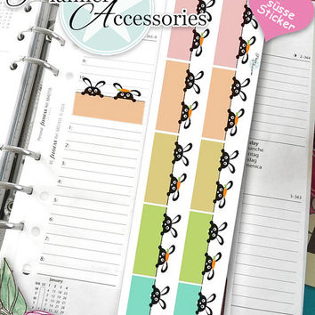 Sticker Sheet Animals Rabbits Erin Condren, Happy Planner, Filofax, Kikki K -NR098