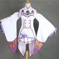 Re:Zero kara Hajimeru Isekai Seikatsu Emilia Anime Costume Cosplay  Full Set