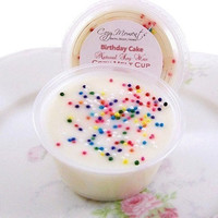 Birthday Cake scented Natural Soy Wax Cozy Melt Cup