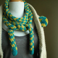 Very long and soft UNISEX scarf - hand knitted - rope scarf - skynni scarf