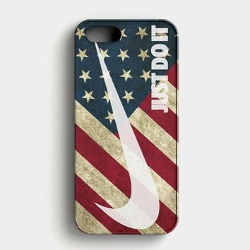 Us Flag Nike Just Do It iPhone SE Case