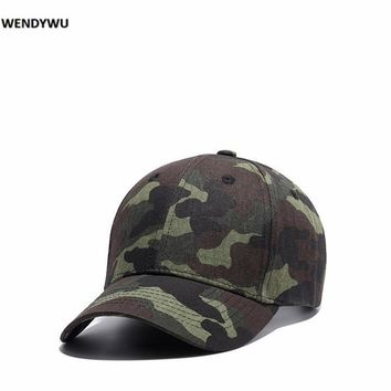 WENDYWU Camo baseball cap Casual Beach Hat for men and women Outdoor sports men peaked cap