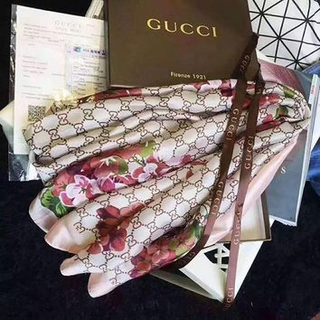 GUCCI Fashion Women Easy to match Silk Scarf