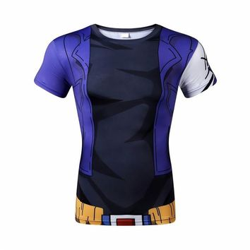 Dragon Ball Z 3D Short Sleeve Armor Anime T-Shirt V3