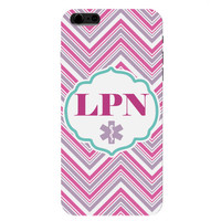 LPN Chevron Pink Licensed Practical Nurse Phone Case