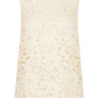 High Neck Lace Top - Nude