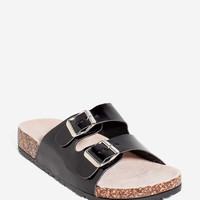 Defeat-01X Patent Footbed Sandal