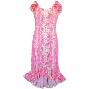 Kuulei Pink Niihau Hawaiian Muumuu Dress