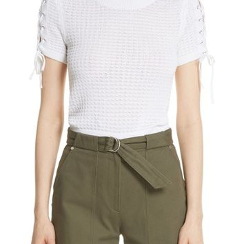 rag & bone Iona Lace-Up Sleeve Sweater | Nordstrom