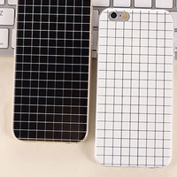 Black and White Checkboard Silicone Case for iPhone 5 5s 6 6s 6Plus 6sPlus