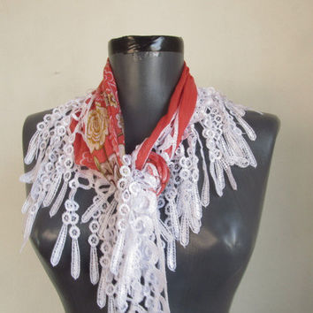 Cotton scarves-Turkish Yemeni Lace Scarf..woman scarf asuhan