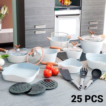 White Premium 10143502 Pans and Cookware Set (25 pieces)