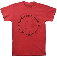 Red Hot Chili Peppers Men's  Wheel Outline T-shirt Red