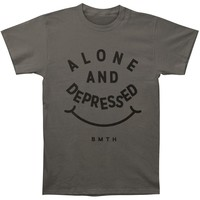Bring Me The Horizon Men's  Alone & Depressed Slim Fit T-shirt Charcoal