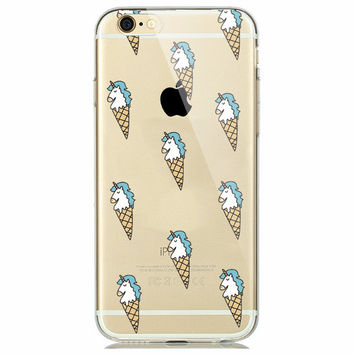 Unicorn Ice Cream Cone Fun Soft Case for iPhone 5 5s 6 6s