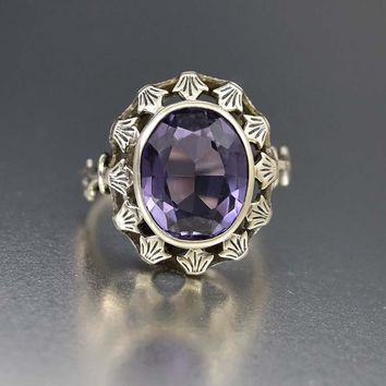 Fascinating Color Change Sapphire Alexandrite Ring, C 1910