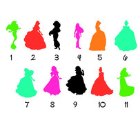 Disney Inspired Decals | Disney Princess Decals | Magic Band Decals | Disney Band Decals| Disney Princess Preppy Decals | Disney Characters