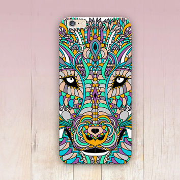 Wolf Spirit Animal Phone Case iPhone 6 Case iPhone 5 Case - iPhone 4 Case - Samsung S4 Case - iPhone 5C - Tough Case - Matte Case - Samsung