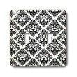 3dRose LLC lsp_41047_2 Black and White Damask 2, Double Toggle Switch