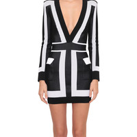 Balmain Bi-colored viscose dress