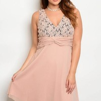 Chiffon Party Dress - Plus Size