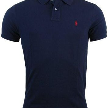 Polo Ralph Lauren Mens Custom Fit Mesh Polo Shirt