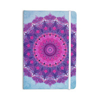 "Iris Lehnhardt ""Grunge Mandala"" Purple Blue Everything Notebook"