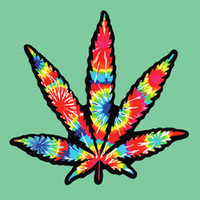 Psychedelic Hemp Weed Sticker Decal