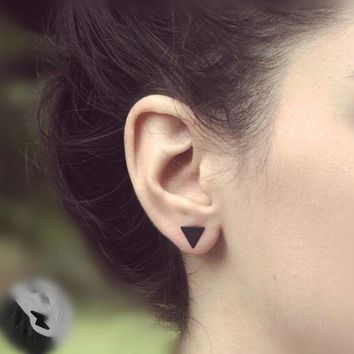 ac spbest Pameng 2pair/lot New fashion black Silver Color  western triangle round flash stud earrings for women gifts jewelry Gold Color