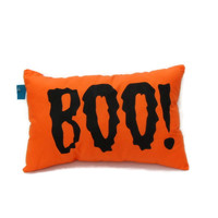 Orange Boo! Halloween Pillow, Decorative Pillow, Boo Pillow,Fall Throw Pillow,Halloween Decorations,Fall Pillows,Halloween Decor,Porch Decor