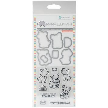 "Mama Elephant Stamp & Die Set 4""""X8""""-Puppy Play"